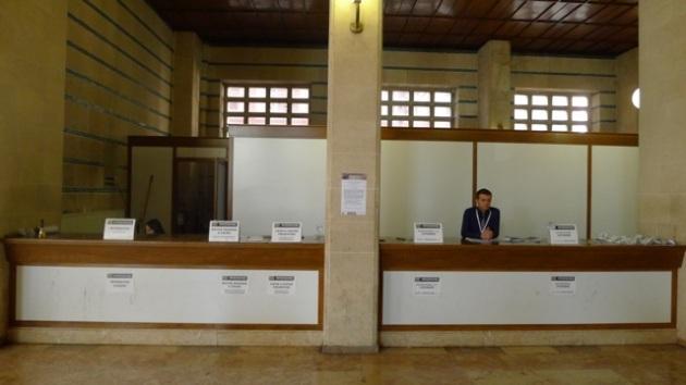 The Registrations desks