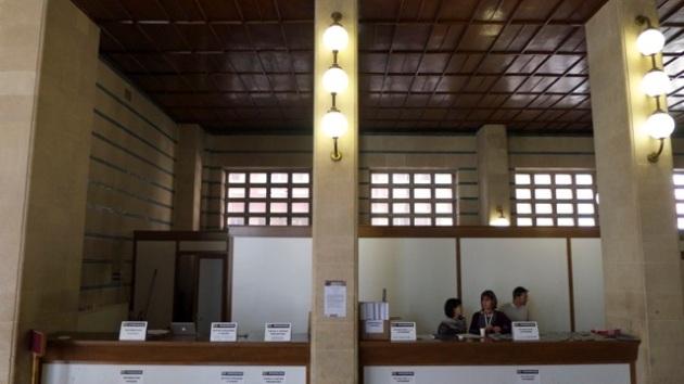 Registration desks